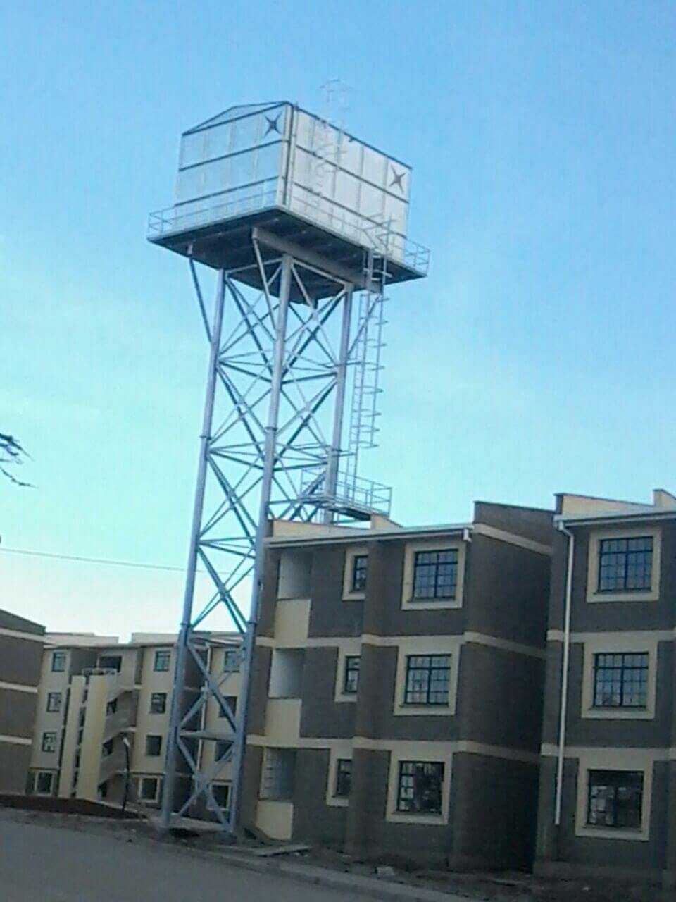 Tank on tower - Housing supply.